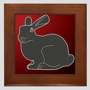Crimson Death Bunny Framed Tile
