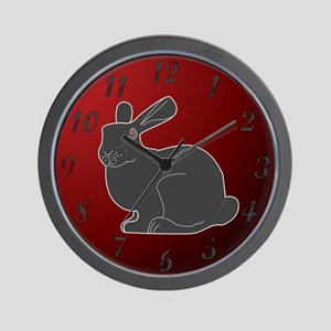Crimson Death Bunny (w/numbers) Wall Clock