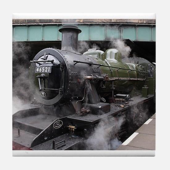 Vintage Steam Engine Tile Coaster