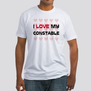 I Love My Constable Fitted T-Shirt