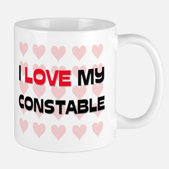 I Love My Constable Mug