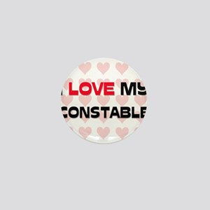 I Love My Constable Mini Button