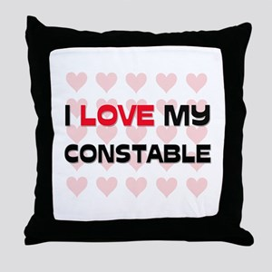 I Love My Constable Throw Pillow