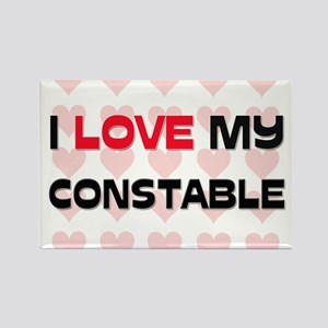 I Love My Constable Rectangle Magnet