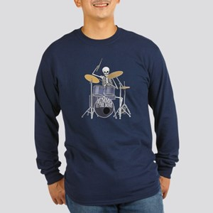 Bone Drummer Long Sleeve Dark T-Shirt