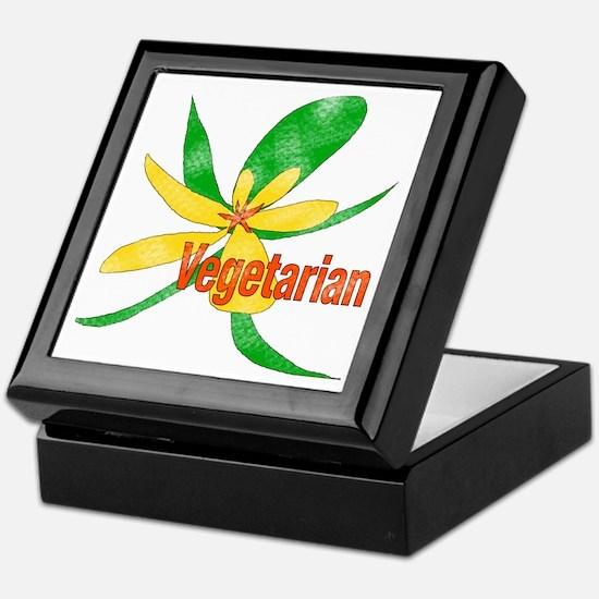 Vegetarian Flower Keepsake Box