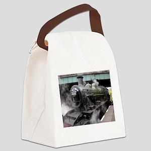 Vintage Steam Engine Canvas Lunch Bag