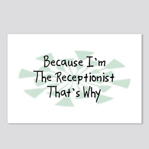 Because Receptionist Postcards (Package of 8)