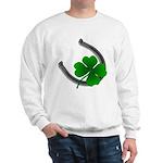Lucky Sweatshirt Shamrock Horseshoe St. Patrick's
