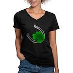 St. Patrick's Lucky Women's V-Neck Dark T-Shirt