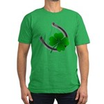 St. Patrick's Lucky Men's Fitted T-Shirt (dark)