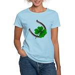 St. Patrick's Women's T-Shirt Lucky 4 Leaf Clover