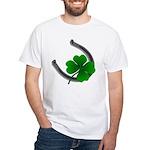 St. Patrick's Lucky White T-Shirt