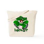 St. Patrick's Tote Bag Lucky Irish Pin Up Girl