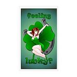Sexy Irish Pinup Girl Rectangle Sticker