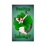 Lucky Irish Sticker 50 pk Retro Pin Up Girl Art
