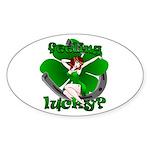 St. Patrick's Lucky Irish Sticker Oval 50 pk Pinup