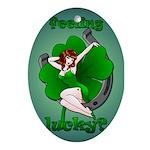 St. Patrick's Lucky Oval Ornament Irish Keepsake