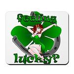 Sexy Irish Pinup Girl Mousepad