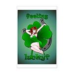 Lucky Mini Poster Print Sexy Irish Pinup Girl