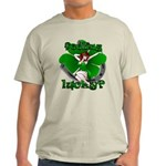 Sexy Irish Pinup Girl Light T-Shirt Lucky Mens Tee