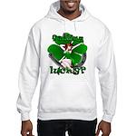 Sexy Irish Pinup Girl Hooded Sweatshirt