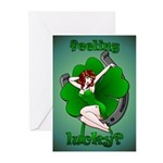 Lucky Irish Greeting Cards 20 Pk Sexy Pinup Girl