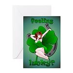 Lucky Irish Greeting Card Sexy Pinup Girl Cards