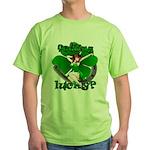 Sexy Irish Pinup Girl Green T-Shirt