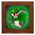 Sexy Irish Pinup Girl Framed Tile