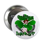 St Patricks Lucky Irish Button 100 pk Pin Up Girl