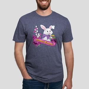 White Easter Bunny Banner T-Shirt