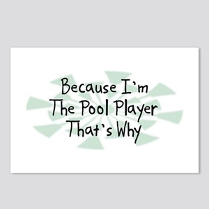 Because Pool Player Postcards (Package of 8)