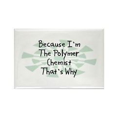 Because Polymer Chemist Rectangle Magnet (10 pack)