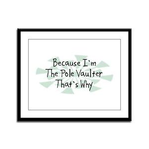 Because Pole Vaulter Framed Panel Print