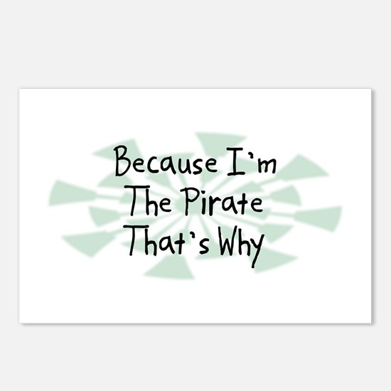 Because Pirate Postcards (Package of 8)