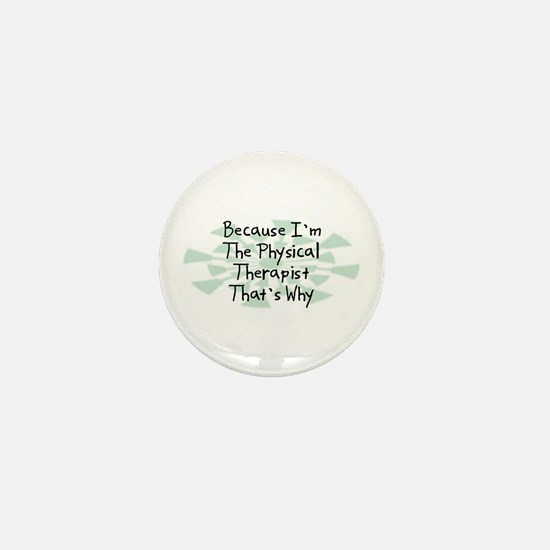 Because Physical Therapist Mini Button (10 pack)