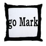 go Mark Throw Pillow