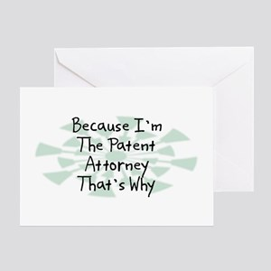 Because Patent Attorney Greeting Card