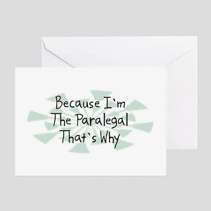 Because Paralegal Greeting Card