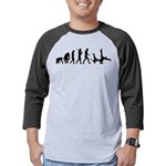 Evolution of Capoeira Mens Baseball Tee
