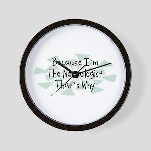 Because Neurologist Wall Clock
