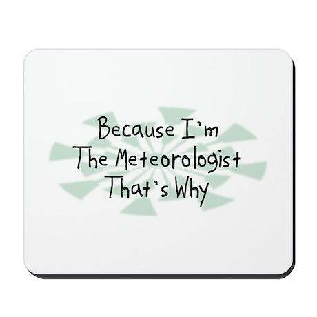 Because Meteorologist Mousepad
