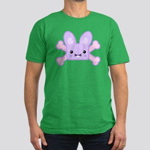 Kawaii Bunny and Crossbones Men's Fitted T-Shirt (