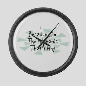 Because Mechanic Large Wall Clock