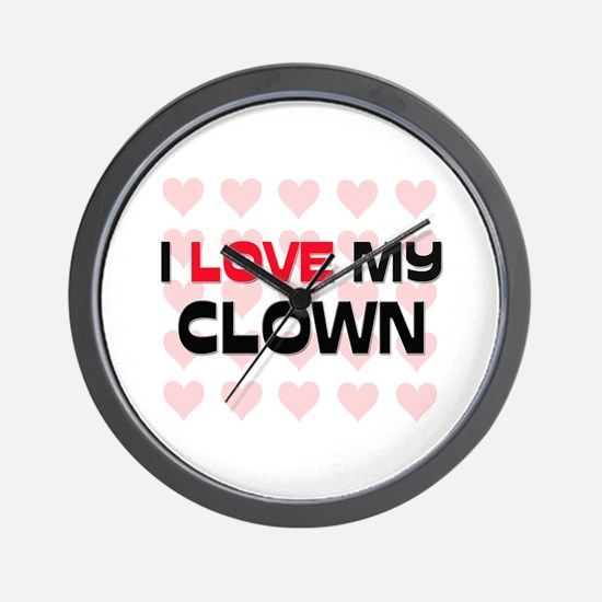 I Love My Clown Wall Clock