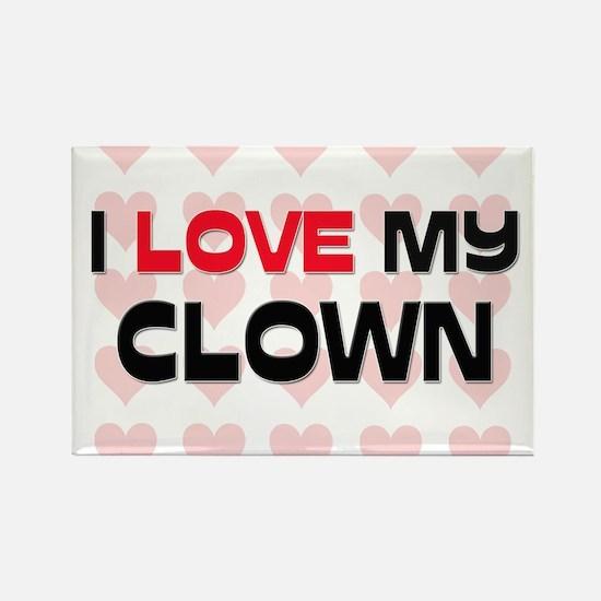 I Love My Clown Rectangle Magnet
