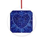 Serenity Heart (round) Round Ornament