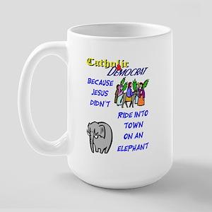 Jesus Didn't Ride an Elephant Large Mug