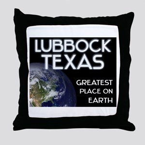 lubbock texas - greatest place on earth Throw Pill